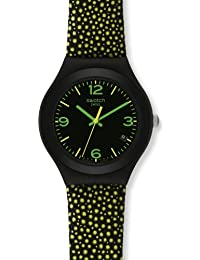 Swatch Damen-Armbanduhr Yellow Drops YGB4004
