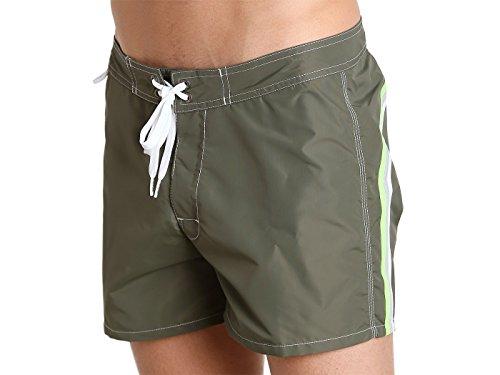 SUNDEK Herren Shorts Low Rise, Mehrfarbig 403 Militare VeGrWh