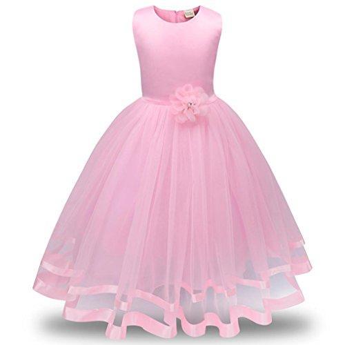 Schlafsack Bär Kostüm (Mädchen Prinzessin Kleid Sannysis Blumenmädchenkleid Mädchen Prinzessin Kinderkleid Partykleid Tutu Tüll Kleid Party Brautkleid (Rosa-Prinzessin,)