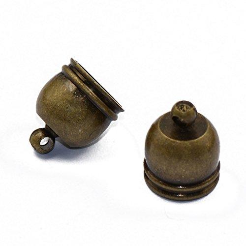9x8mm Bell (10Pcs Glocken Form Perlenkappen Endkappen Perlen Kappen Basteln Bronze)