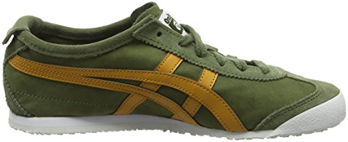 Asics Mexico 66, Sneakers basses mixte adulte Green (Chive/Tan)