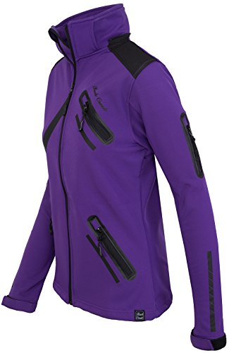 Rock Creek Damen Softshell Jacke Übergangs Jacke Windbreaker Regenjacke Damenjacken Outdoorjacke Windjacke D-371 Violett S - 2
