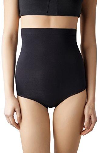 MD Frauen Nahtlose Shapewear hoch Taille Bauch Kontrolle Hose Bauch und Bottom Body Shaper Schwarz/Nude