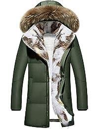 Warme Kapuzen Pelzkragen Mantel Damenjacke langen Tarnung Dicker Plüschmantel