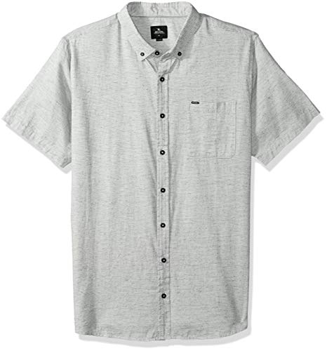 Rip Curl Herren Ourtime S/S Shirt Button Down Hemd, Stone, Groß -