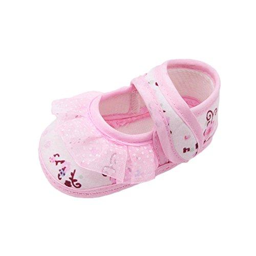 Sllowwa Baby Mädchen Prinzessin rutschfest Weiche Sohle Krabbelschuhe Weiche Schuhe Soled Lace Floral Schuhe Krippenschuhe drucken Neugeborene Babys - Schaffell Baby Booties