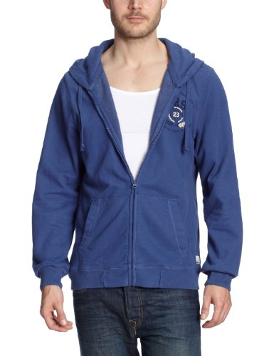 Cross Jeans Herren Sweatshirt 20065, Gr. 44/46 (S), Blau (Ocean Blue) (Cross Sweatshirt Herren)