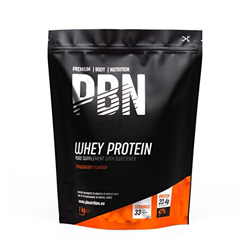 PBN Whey Protein Powder 1kg Strawberry