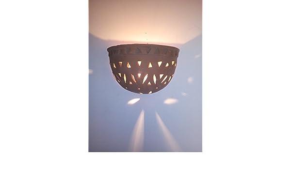 Applique da parete lampada lanterna in terracotta marocco