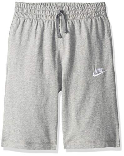 Nike Jungen Sportswear Shorts, Grau (Heather/Dark Steel Grey/White), L