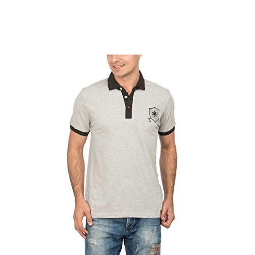 ZEVEN Men's Modern Cotton Polo T-Shirt, Grey