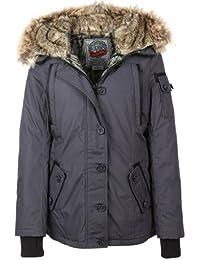 Urban Surface Damen Winterjacke Jacke Parka Gr 40 L grau
