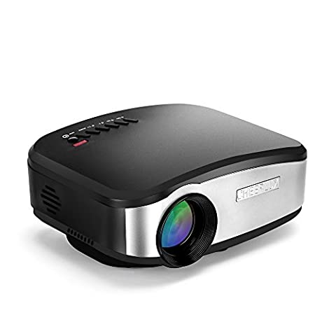 Mini Home Movie Projector C6 1080P HD 1200 Lumens Portable for Home Theater Entertainment Support HDMI USB AV VGA