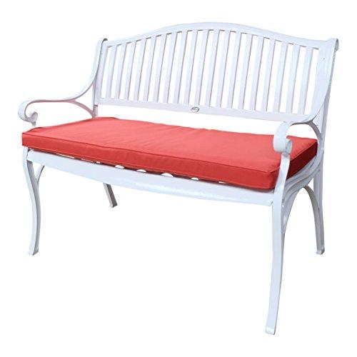 Lazy Susan - GRACE Gartenbank aus Aluminium, Weiß (Terracotta Kissen)