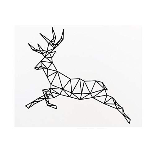 Qsdfcc Bunny Rabbit Nursery Wandtattoo Geometrische Formen Abnehmbare UngiftigeMaterialWandaufkleber WohnkulturWohnzimmer Wandbild 24-1 58x63 cm (Ordner Geometrische)