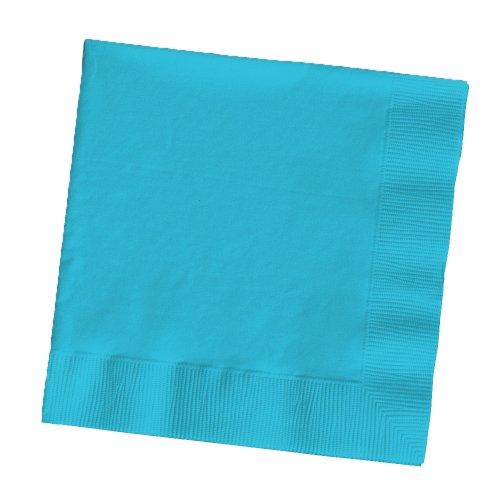 Touch der Farbe 2lagig 50Zählen Papier Lunch-Servietten, Bermuda Blau ()