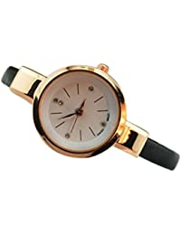 Sanwood Women Ladies Thin Faux Leather Strap Wrist Watch