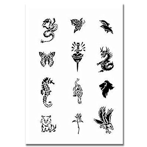 Airbrush Tattoo Schablone 93 -
