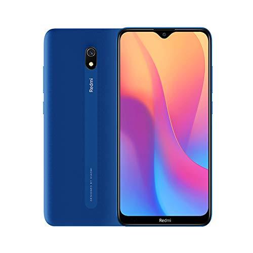 """Xiaomi Redmi 8A Smartphone, 2GB 32GB Mobilephone, 6,22\""""Pantalla Snapdargon 439 Octa Core Teléfono Móvil 5000mAh 12MP AI Tipo Cámara Trasera 8MP Cámara Frontal,Versión Global (Azul)"""