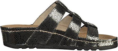 Rohde 5820 donna clogs & mules nero / argento