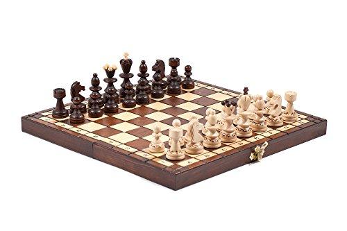 254cm-Perle-Reise-Holzern-Schachspiel-27cm-VERBRANNT-DESIGN