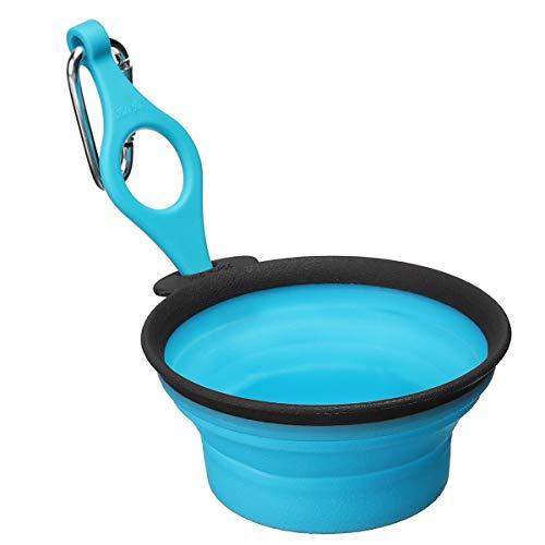 DaDago Pet Silica Gel Bowl Hund Katze Kollabieren Silikon Dow Bowl Candy Color Outdoor Travel Portable Puppy Food Container Feeder Dish - Blau - M -