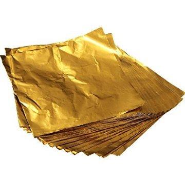 sch Süßigkeiten Schokolade Lolly Papier Aluminium Folie Wrappers Gold (Gold Wrapper, Candy)