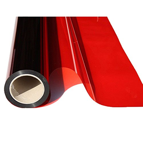 HOHO Transparente Bunte Fenster Film 19.6 in. Von 39,3 in, rot, 19.6in.by 39.3in.