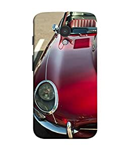 PrintVisa Designer Back Case Cover for Motorola Moto X :: Motorola Moto X (1st Gen) XT1052 XT1058 XT1053 XT1056 XT1060 XT1055 (Classy Red Car Vintage Style)