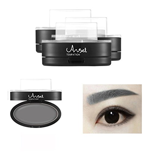OverDose Brow Stempel Pulver Delicated Natürlich Perfect Enhancer Straight United Augenbraue Brow Stamp Powder (Maske Bankräuber Joker)