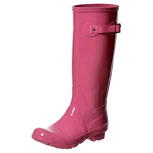Onlineshoe Senhoras Botas De Chuva Pink Gloss