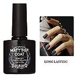 MMLC Lang Lebige Matt Top Coat Uv Diamant Nagelgelpoliermittel Primer Nail Art Nail art Maschine Nagel Kunst Werkzeug (Schwarz)