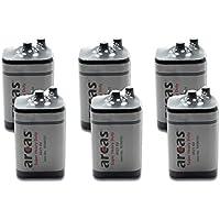 Arcas 10700125 geeignet für Baustellenlampe 4R25 Batterie 6 Volt Block, 7 Ah, SP1 [6er-Vorteilspack]