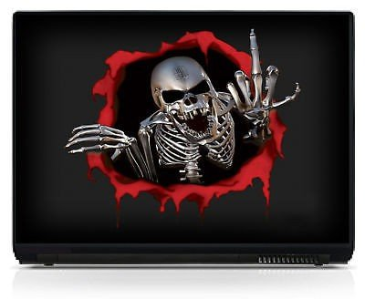 Stickersnews - Sticker pc portable autocollant Skull réf 082 Dimensions