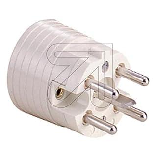 ABL Sursum 22011103P + N + and white electrical power plug–Electrical Power Plugs (230–400, 16A)