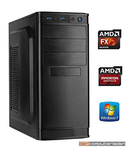 Office PC AMD, FX-4300 4x3.8 GHz, 16GB DDR3, 1TB HDD, Radeon HD3000 1GB, Windows 7 Büro Computer zusammengestellt in Deutschland Desktop Rechner