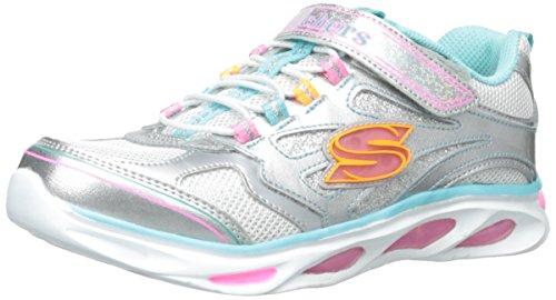 Skechers Blissful Mädchen Sneaker, - Silberfarben, 33.5 EU