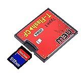 Tree-on-Life Rosso e Nero 4.3 x 3.5x0.4 cm Dotato di Presa Push-Push T-Flash a CF tipo1 Scheda di Memoria Flash compatta Adattatore UDMA Fino a 64 GB