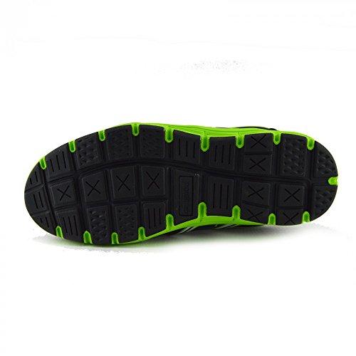Kick Footwear Mens Groundwork Steel Toe Safety Trainer Black-Green
