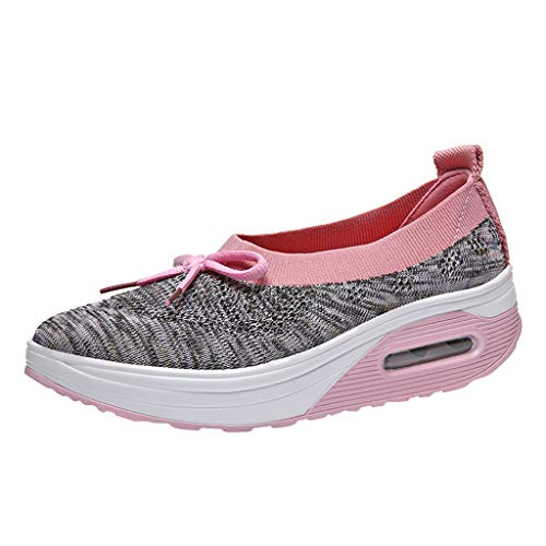Sommer Sneaker Damen,Mode Casual Wedge Platform Loafers Segeltuchschuhe Turnschuhe Dicke Bottom Shake Schuhe Bequem Sportschuhe Apple Bottom Sneakers