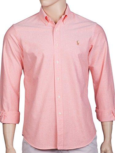 Ralph Lauren - Chemise casual - Avec boutons - Uni - Col Boutonné - Homme Rose