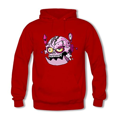 Women Creative Pink Skull Printed Sweatshirt Casual Hooded Pullover C