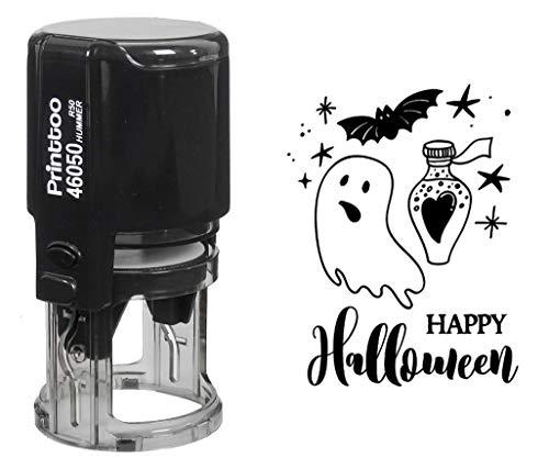Printtoo Round Happy Halloween Stempel Selbstfärber-Party-Einladung Stamper-Geschenk-Idee