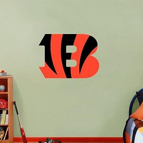 Cincinnati Bengals NFL Football Pared Vinilo Adhesivo de decoración para el hogar 63 x 45 cm