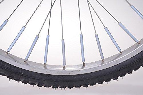 Filmer Fahrrad Zubehör / Speichenreflektoren silber im 10er-Set F-40045