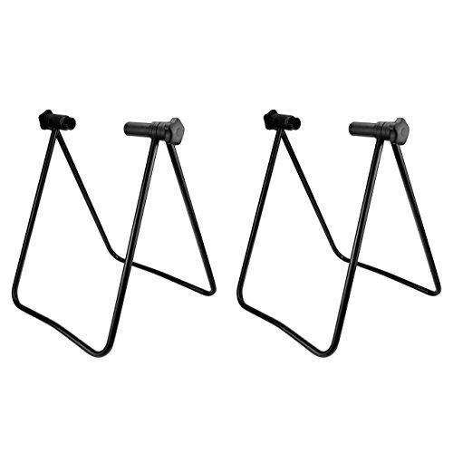 Preisvergleich Produktbild WELLGRO 2x Hinterrad Fahrradständer - Stahl,  schwarz,  platzsparend zusammenklappbar