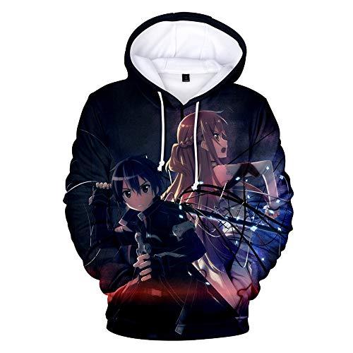 DTYTX 3D HD Unisex Hoodie Print Sweatshirts Mantel Tops Pullover Cosplay Langarm Sportbekleidung Sword Art Online L