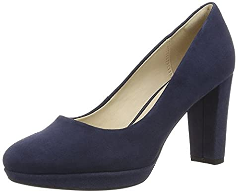 Clarks Kendra Sienna, Women's Closed-Toe Pumps, Blue (Navy Suede), 5.5