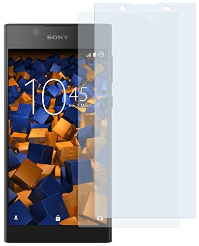 mumbi Schutzfolie kompatibel mit Sony Xperia L1 Folie klar, Bildschirmschutzfolie (2x)