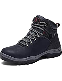SIXSPACE Hombre Botines Zapatos Botas Nieve Invierno Botas Impermeables Fur Forro Aire Libre Boots